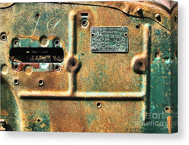 Automobile Canvas Print featuring the photograph Paint No. 49 by Susan Smith