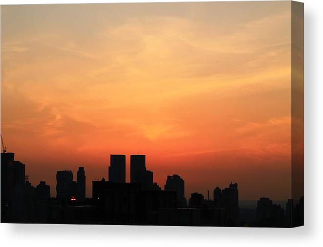 Sunset Canvas Print featuring the photograph Painted Sky by Catie Canetti