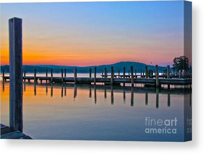 Lake Winnipesaukee Canvas Print featuring the photograph Painting On The Lake by Michael Mooney