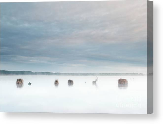 Lac Canvas Print featuring the photograph Pastel Sunrise by David Gimenez Aldalur