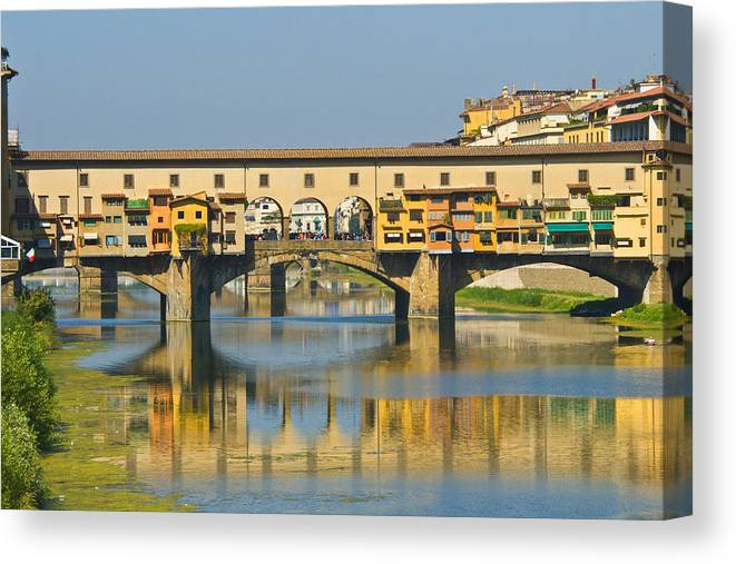 Florence Canvas Print featuring the photograph Ponte Vecchio by Richard Henne