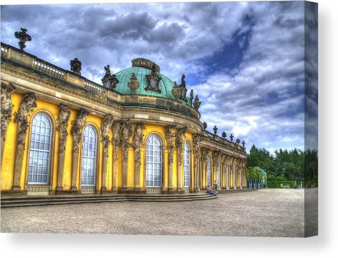 Neuer Garten Canvas Print featuring the photograph Schloss Sanssouci   Berlin by Jon Berghoff
