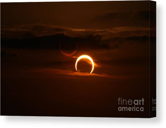 Texas Canvas Print featuring the photograph Solar Eclipse by Ashley M Conger