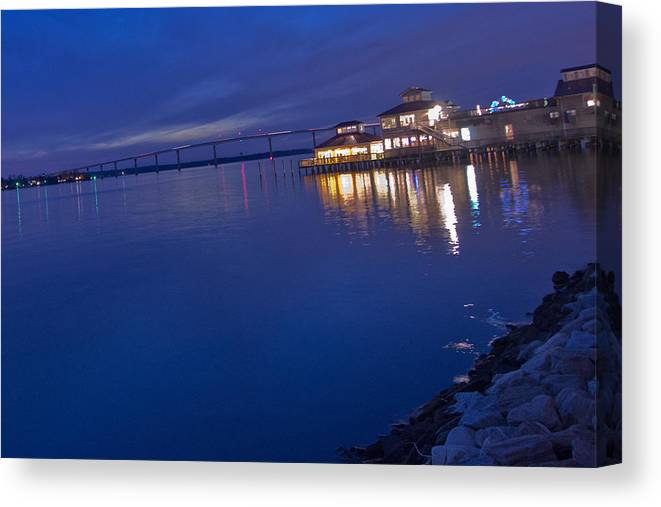 Thomas Johnson Bridge Canvas Print featuring the photograph Solomons Island by Kelly Reber