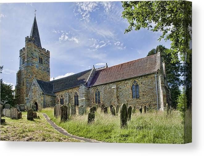 Church Canvas Print featuring the photograph St Mary Lamberhurst by Dave Godden