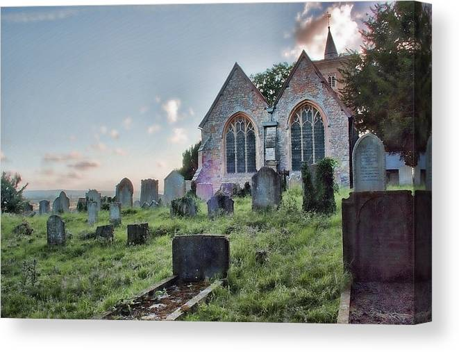 Church Canvas Print featuring the photograph St Michael's East Peckham by Dave Godden