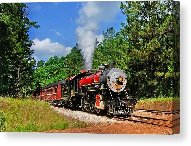 Steam Train Canvas Print featuring the photograph Steam Train by Stan Williams