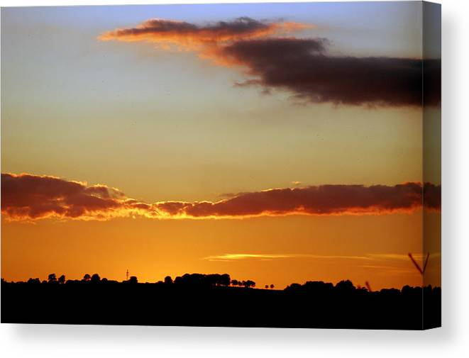 Red Sky Canvas Print featuring the photograph Sublime Sunset by Rod Jones