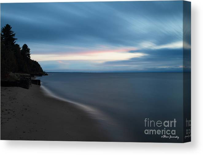Michigan Upper Peninsula Canvas Print featuring the photograph Sunrise In Paradise by Steve Javorsky