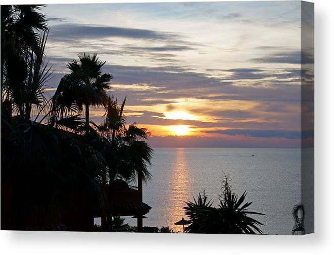Spain Canvas Print featuring the photograph Sunrise Over The Mediterranean by Rod Jones