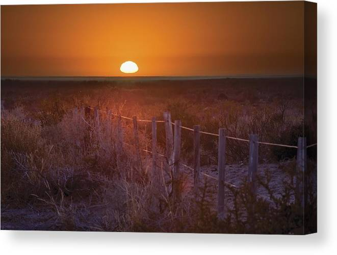 Beauty In Nature Canvas Print featuring the photograph Sunrise Over The Pampa Of Argentina San by Philippe Widling