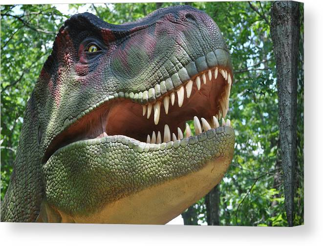 Dinosaur Canvas Print featuring the photograph T-rex by Tammy Price