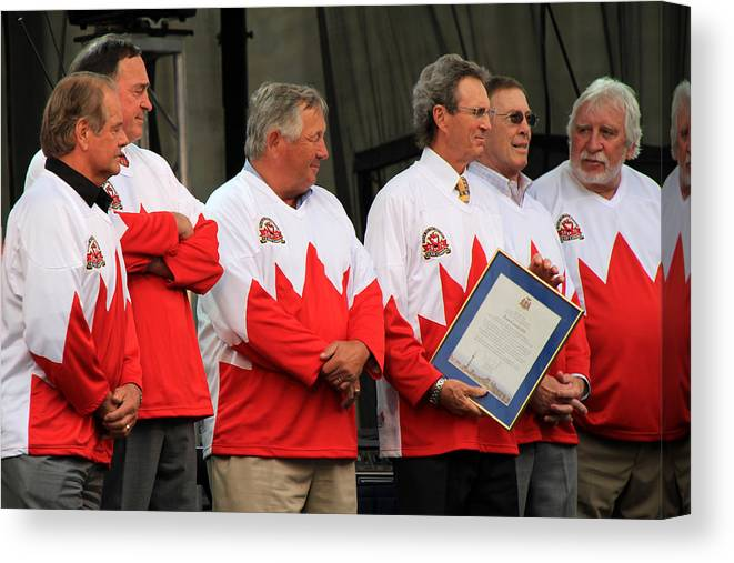 Team Canada Canvas Print featuring the photograph Team Canada 1 by Andrew Fare