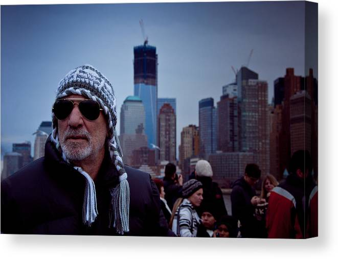 New York Canvas Print featuring the photograph The Tourist by Heidi Reyher