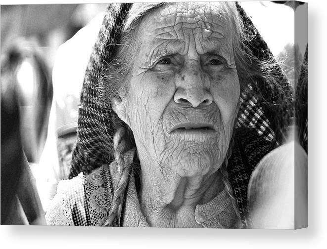 Portraits Canvas Print featuring the photograph Time Passes By by David Resnikoff