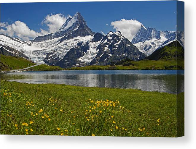 Switzerland Canvas Print featuring the photograph Up In The Bernese Alps by Ulrich Burkhalter