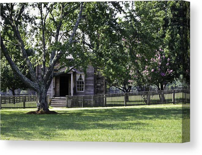 Appomattox Canvas Print featuring the photograph View Of Jones Law Offices Appomattox Virginia by Teresa Mucha