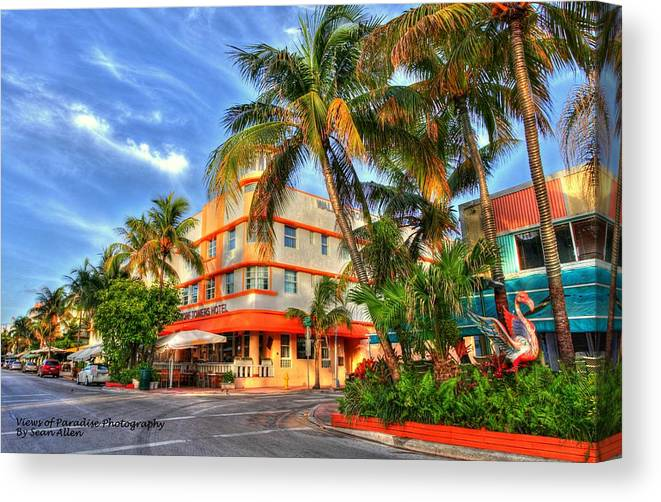 Florida Canvas Print featuring the photograph Waldorf Towers by Sean Allen