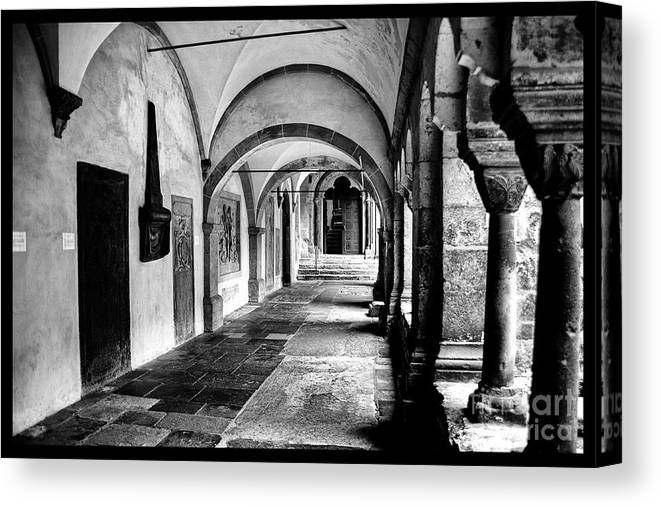 Germany Ancient Religious Sites Canvas Print featuring the photograph Walkway To Chapel by Rick Bragan