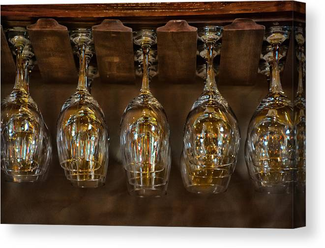 Wine Canvas Print featuring the photograph Warm Reflections by Brenda Bryant