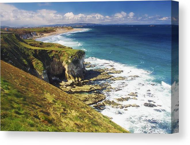 Beach Canvas Print featuring the photograph White Rocks, Portrush, Co Antrim by The Irish Image Collection
