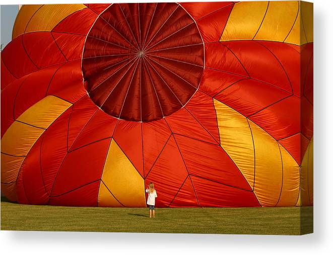 Balloon Canvas Print featuring the photograph Whooooooooa That Is Big by Coby Cooper