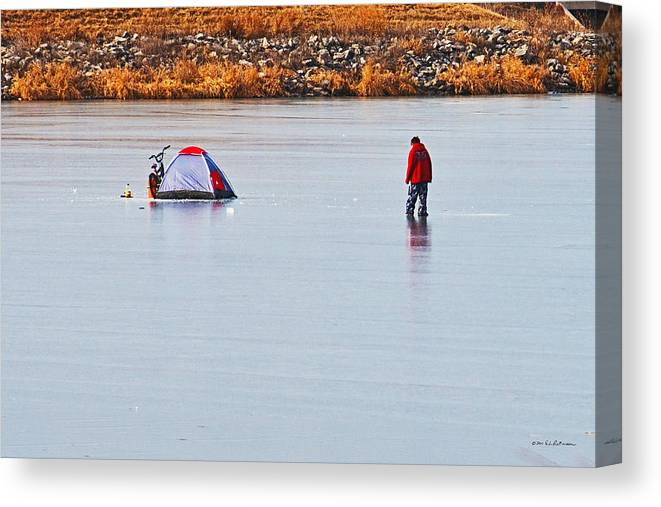 Winter Scene Canvas Print featuring the photograph Winter Fun by Edward Peterson