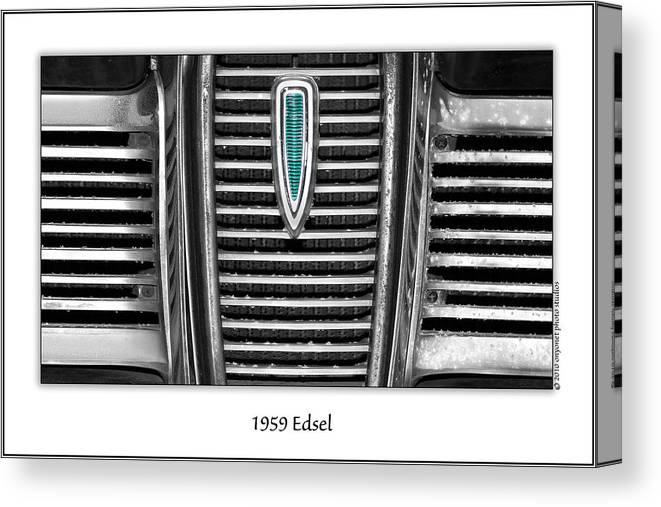 1959 Canvas Print featuring the photograph 1959 Edsel by Onyonet Photo Studios