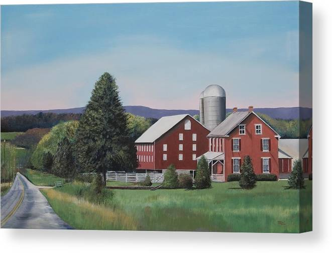 Gettysburg Canvas Print featuring the painting Almost Home by Mimi Schlichter