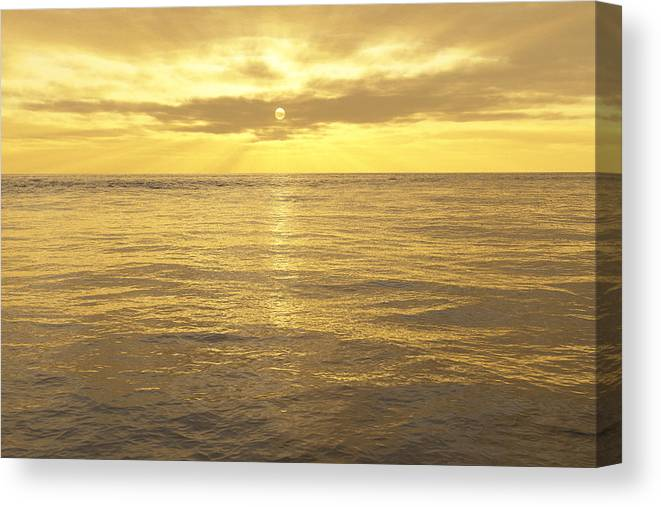 Lake Canvas Print featuring the digital art Ocean View by Mark Greenberg