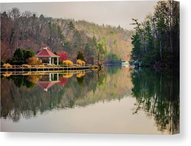 Beautiful Canvas Print featuring the photograph Beautiful Landscape Near Lake Lure North Carolina by Alex Grichenko
