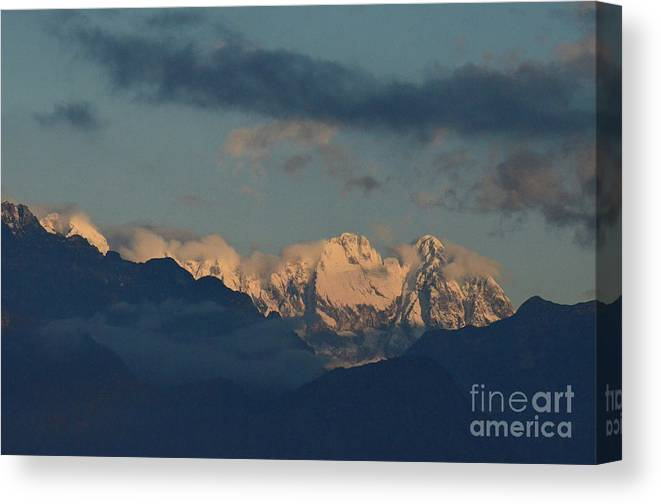 Mountains Canvas Print featuring the photograph Beautiful Scenic View Of The Mountains In Italy by DejaVu Designs