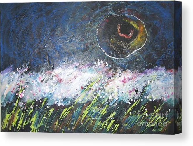 Aabstract Paintings Canvas Print featuring the painting Buckwheat Field by Seon-Jeong Kim