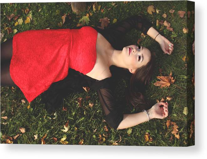 Girl Canvas Print featuring the photograph Fallen by Reese Wallace