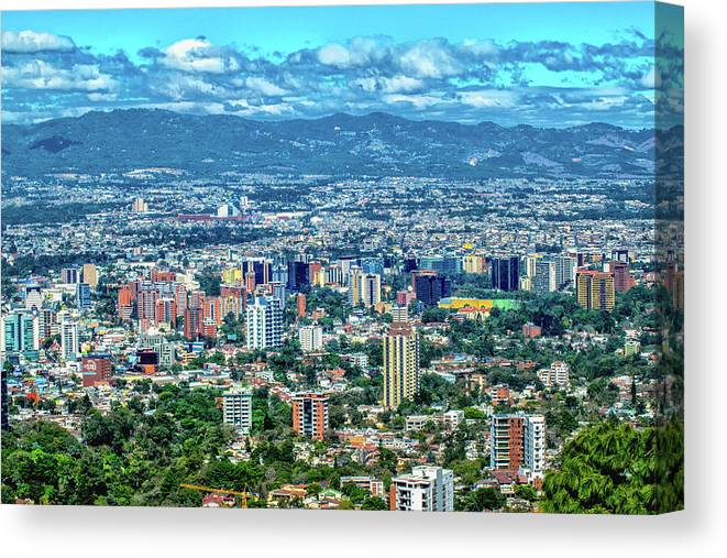 Guatemala City Canvas Print featuring the photograph Guatemala City - Guatemala I by Totto Ponce