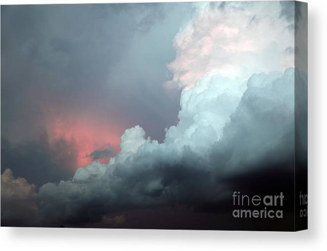 Clouds Canvas Print featuring the photograph Hello by Amanda Barcon