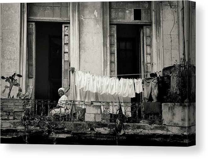 Cuba Canvas Print featuring the photograph Just Hanging Out by Mary Buck