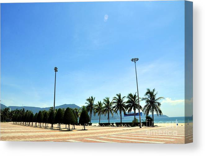 Pham Van Dong Beach Canvas Print featuring the photograph Pham Van Dong Beach by Andrew Dinh