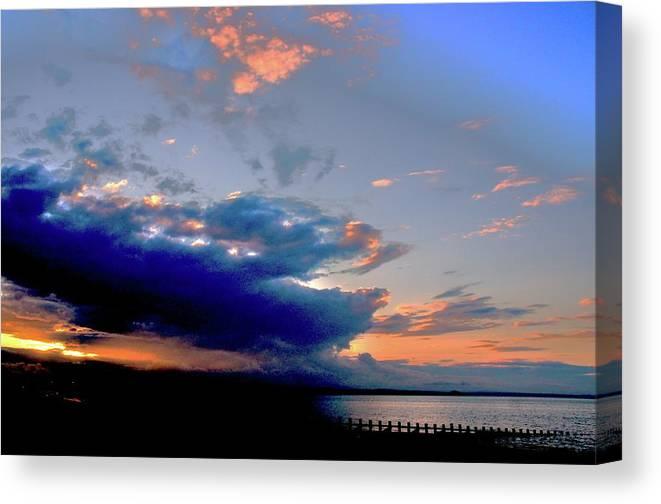 Nik Watt Canvas Print featuring the photograph Portobello Clouds by Nik Watt