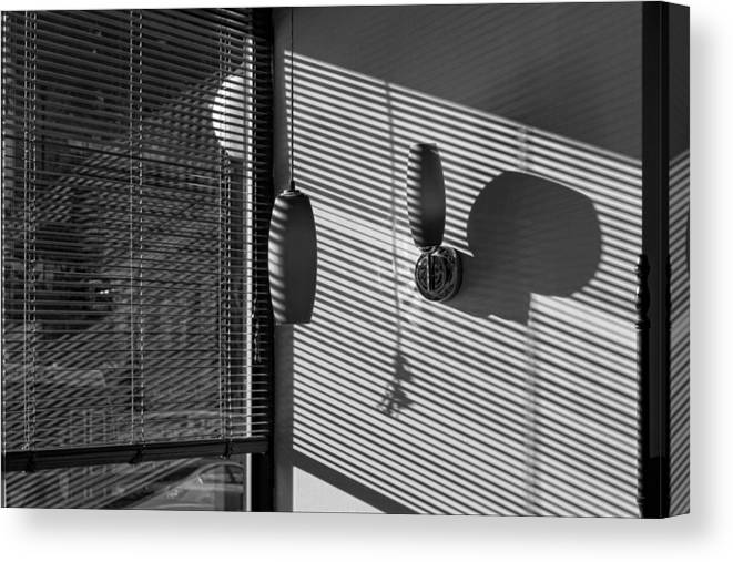 Light And Shadow Canvas Print featuring the photograph Restaurant Late Afternoon 3 by Robert Ullmann