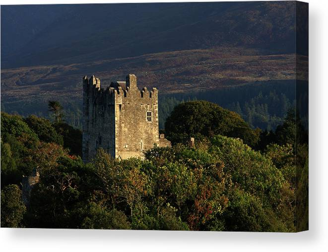 Castle Canvas Print featuring the photograph Ross Castle, Killarney National Park by Aidan Moran