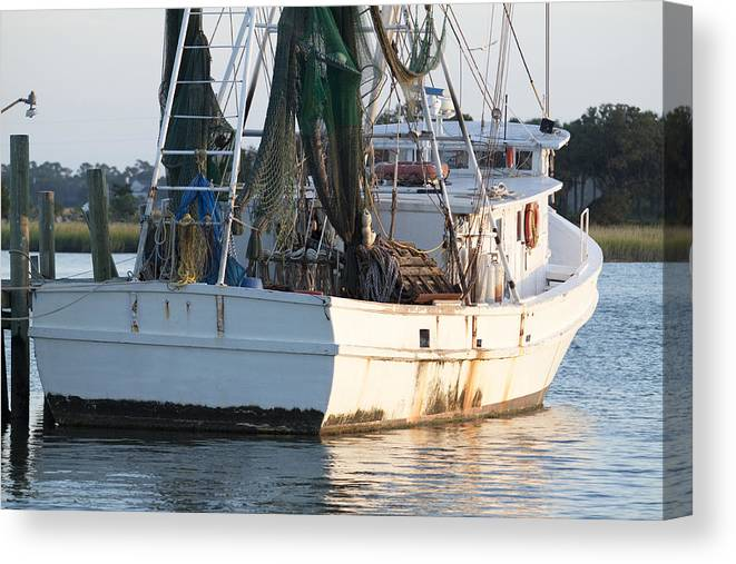 Shrimp Canvas Print featuring the photograph Shrimp Boat by Dustin K Ryan