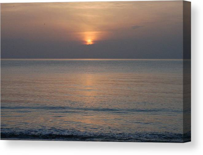 Sunrise Canvas Print featuring the photograph Sunrise In Vero Beach by Michael Vanatta