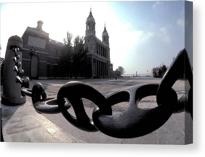 Big Canvas Print featuring the photograph The Chain In Spain by Carl Purcell