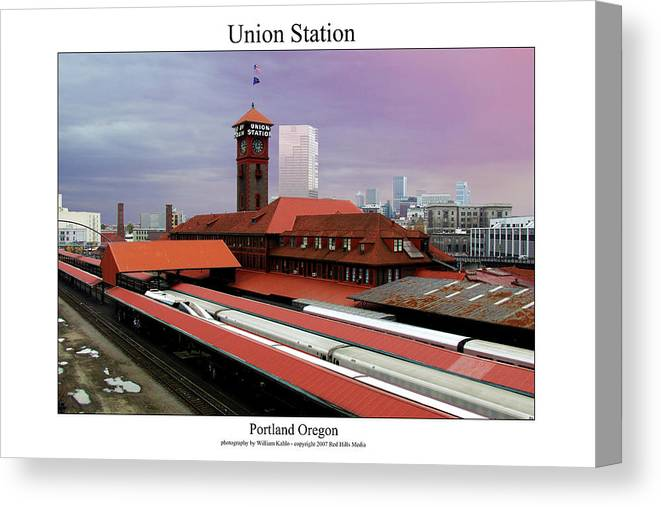 Portland Photographs Canvas Print featuring the photograph Union Station by William Jones