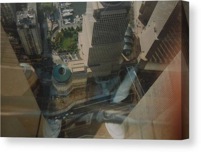 Wtc Canvas Print featuring the photograph View From The W T C by Rob Hans