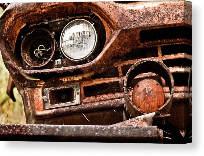 Color Photography Canvas Print featuring the photograph Winkin Ford by Wayne Denmark