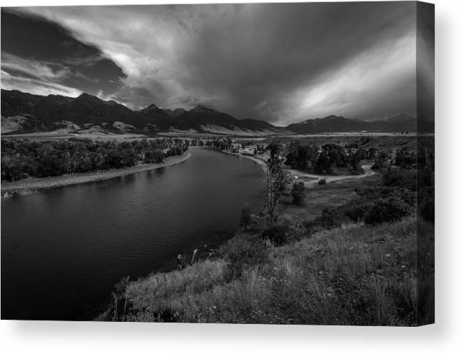 Yellowstone River Canvas Print featuring the photograph Yellowstone River Camp by Rick Strobaugh