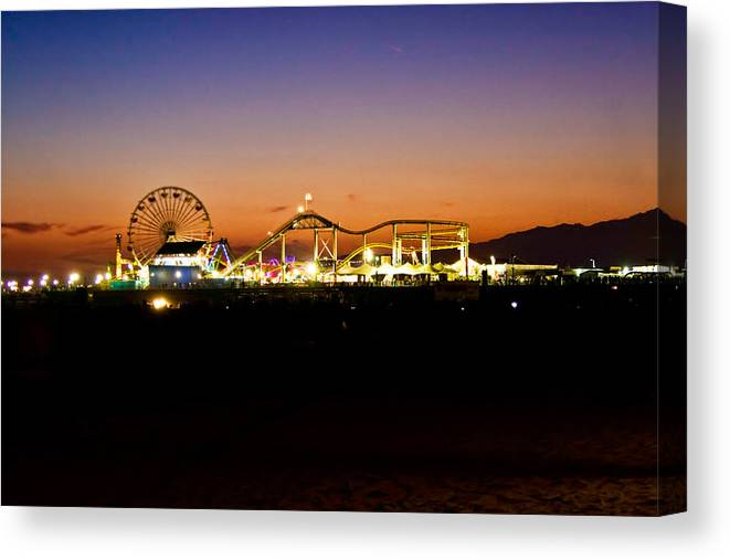 Santa Monica California Canvas Print featuring the photograph 100 Years by Ronald Talley