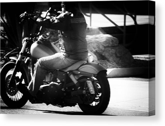 Harley-davidson Motor Cycles Canvas Print featuring the photograph Screw It, Just Ride by Marit Runyon